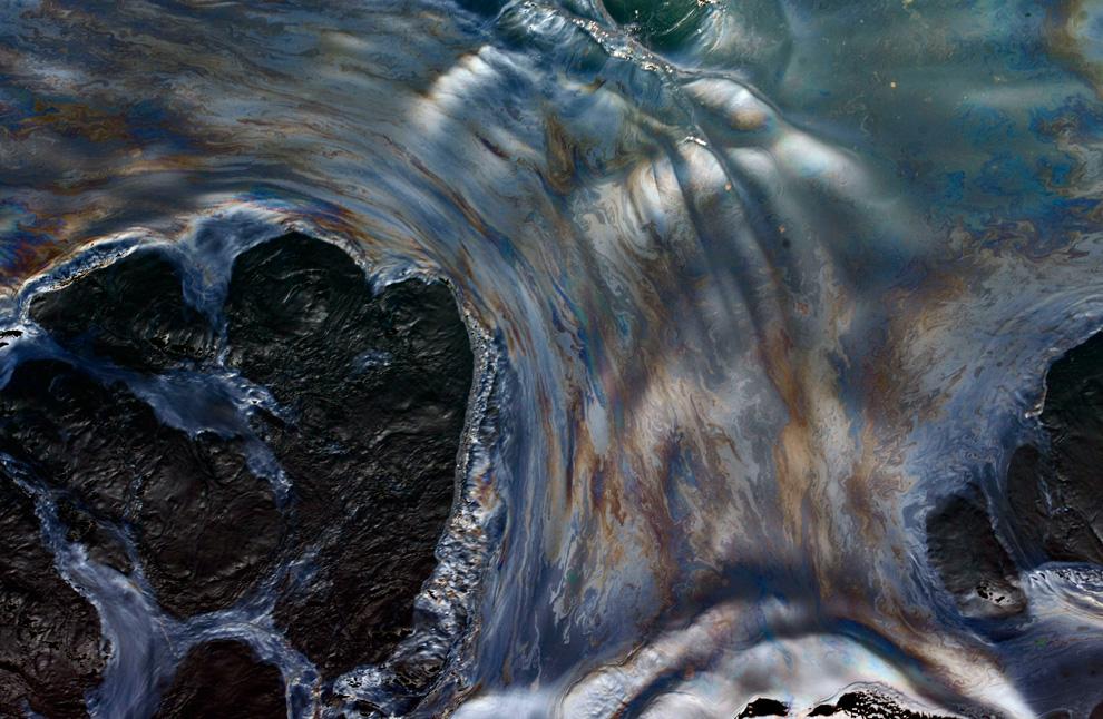 Нефтяное пятно в Мексиканском заливе фото