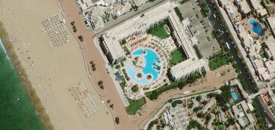 Фото из космоса Агадир, Марокко.