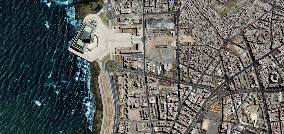 Фото из космоса Касабланка, Марокко.