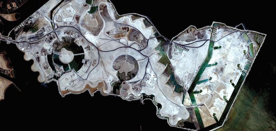 Фото с космоса Жемчужина, Катар.