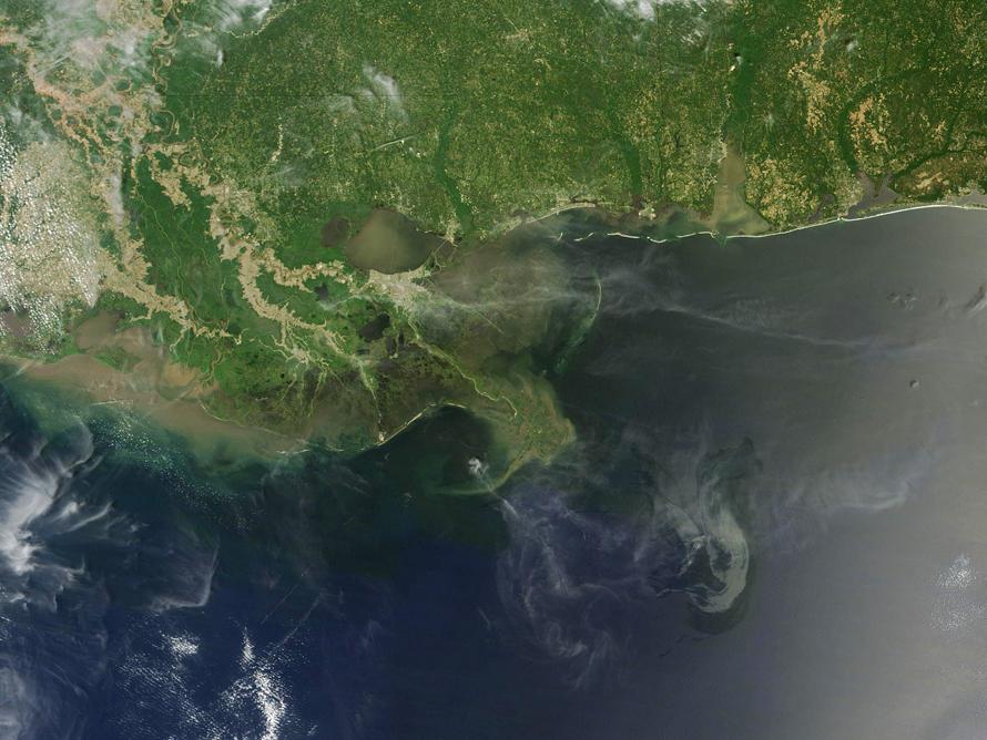 фотографии со спутника Мексиканский залив разлив нефти, нефтяное пятно