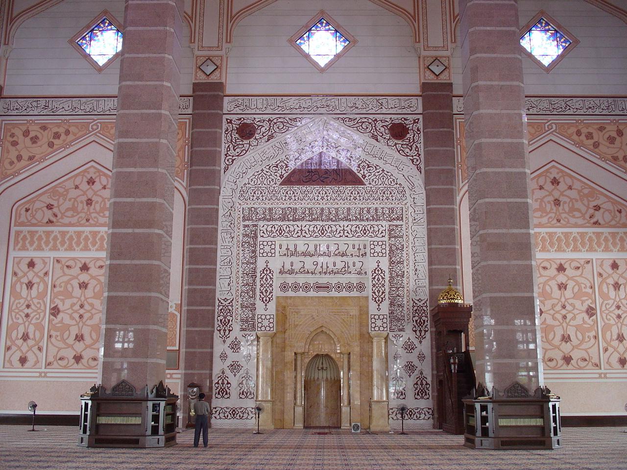 Mosque Putra in Putrajaya, Malaysia