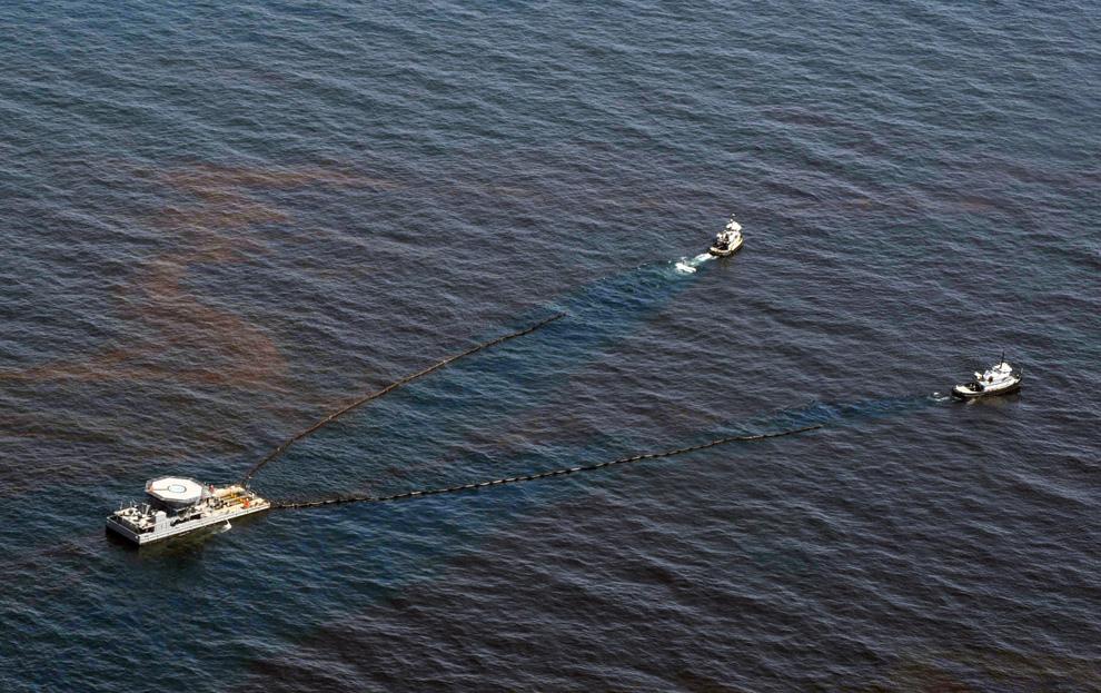 Нефтяное пятно. Мексиканский залив.
